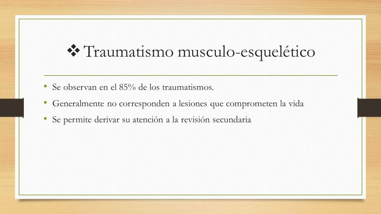 Traumatismo musculo-esquelético