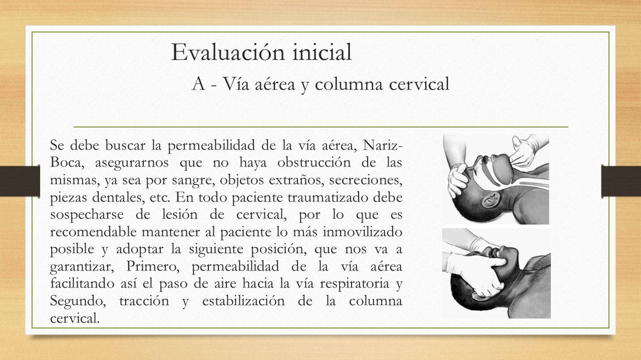 A - Vía aérea y columna cervical