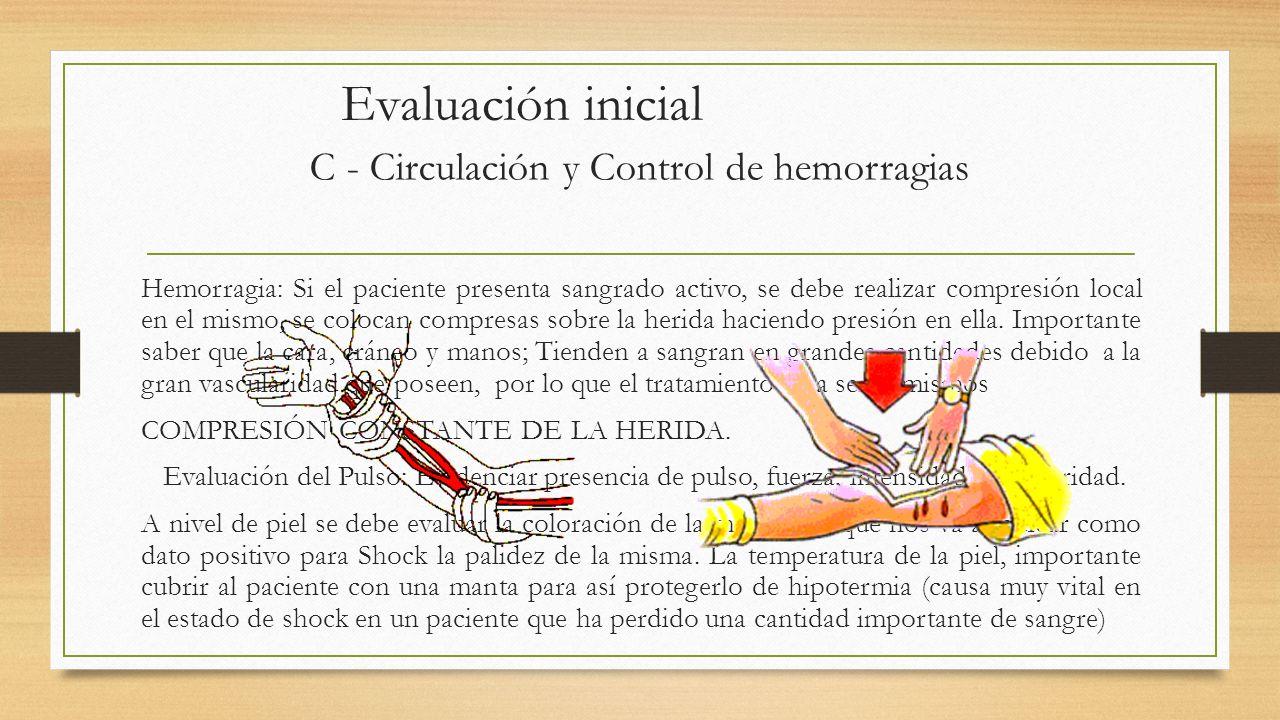 C - Circulación y Control de hemorragias