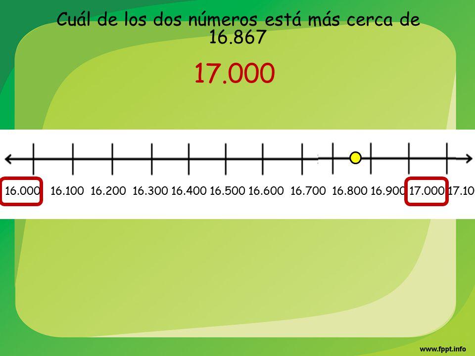 Cuál de los dos números está más cerca de 16.867