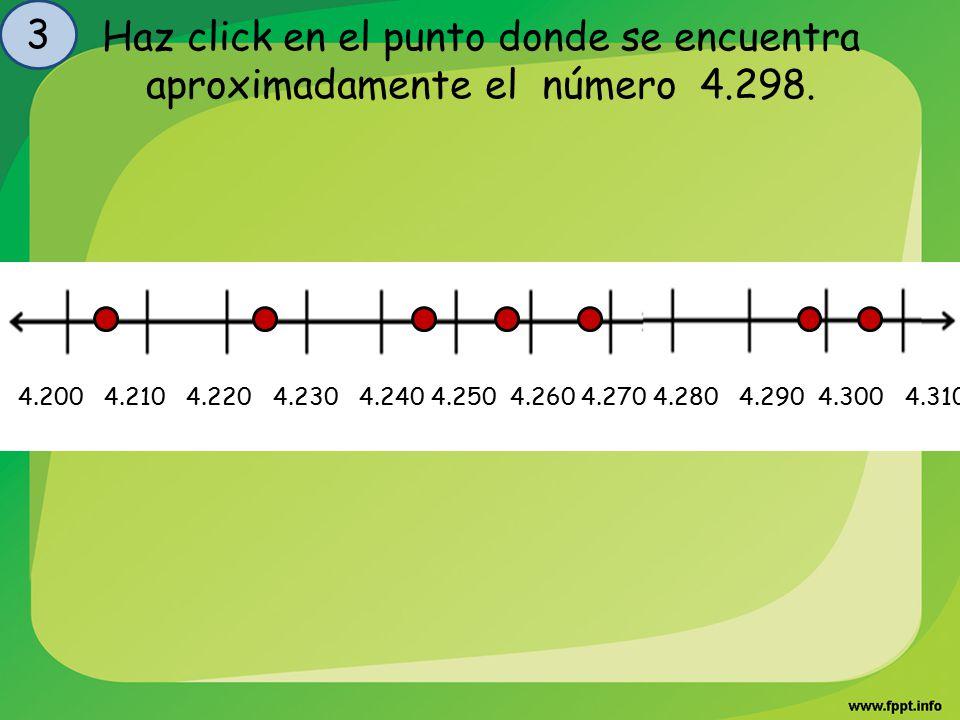 3 Haz click en el punto donde se encuentra aproximadamente el número 4.298.