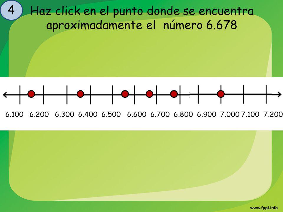 4 Haz click en el punto donde se encuentra aproximadamente el número 6.678.
