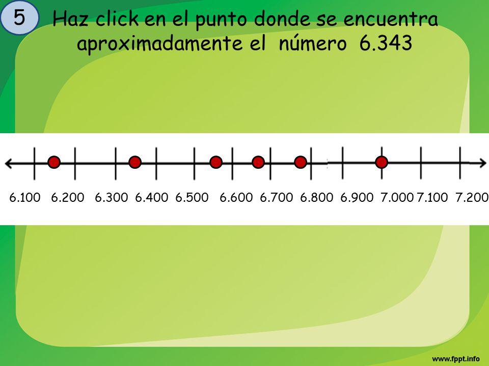 5 Haz click en el punto donde se encuentra aproximadamente el número 6.343.