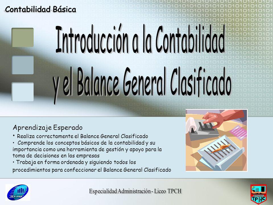 Introducción a la Contabilidad y el Balance General Clasificado