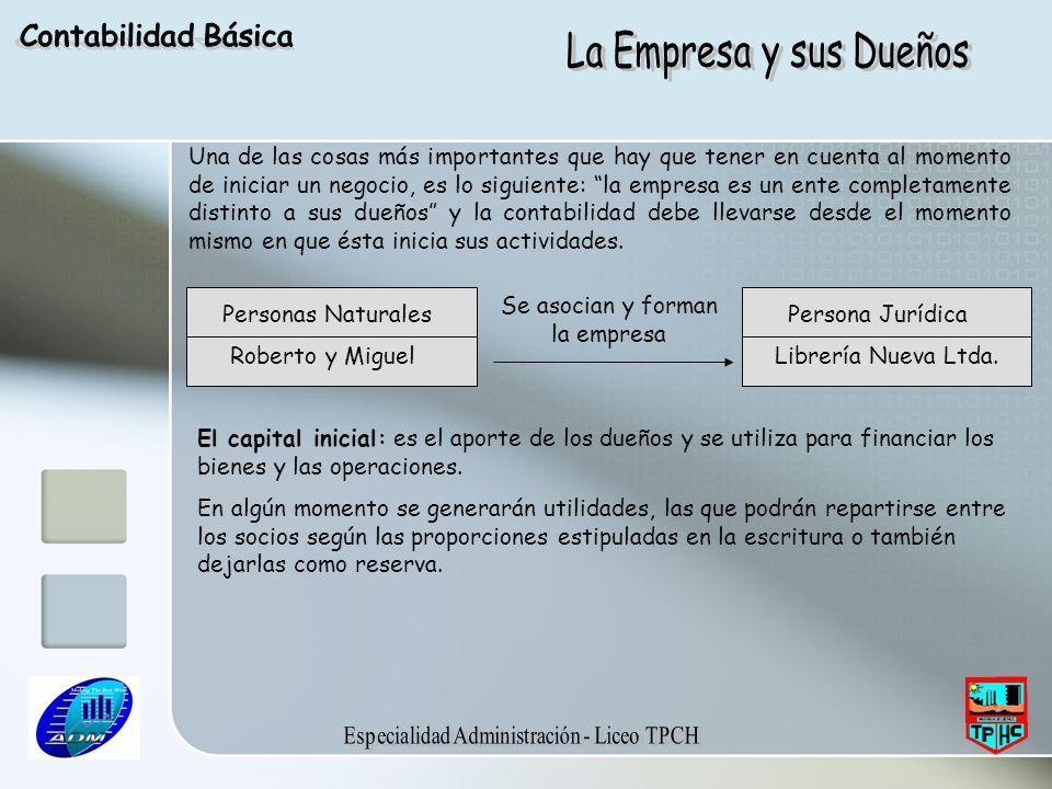 Contabilidad Básica La Empresa y sus Dueños.