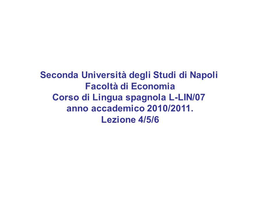 Seconda Università degli Studi di Napoli Facoltà di Economia