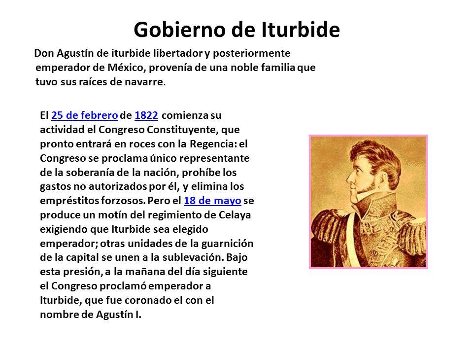 Gobierno de Iturbide