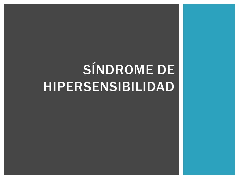 Síndrome de hipersensibilidad