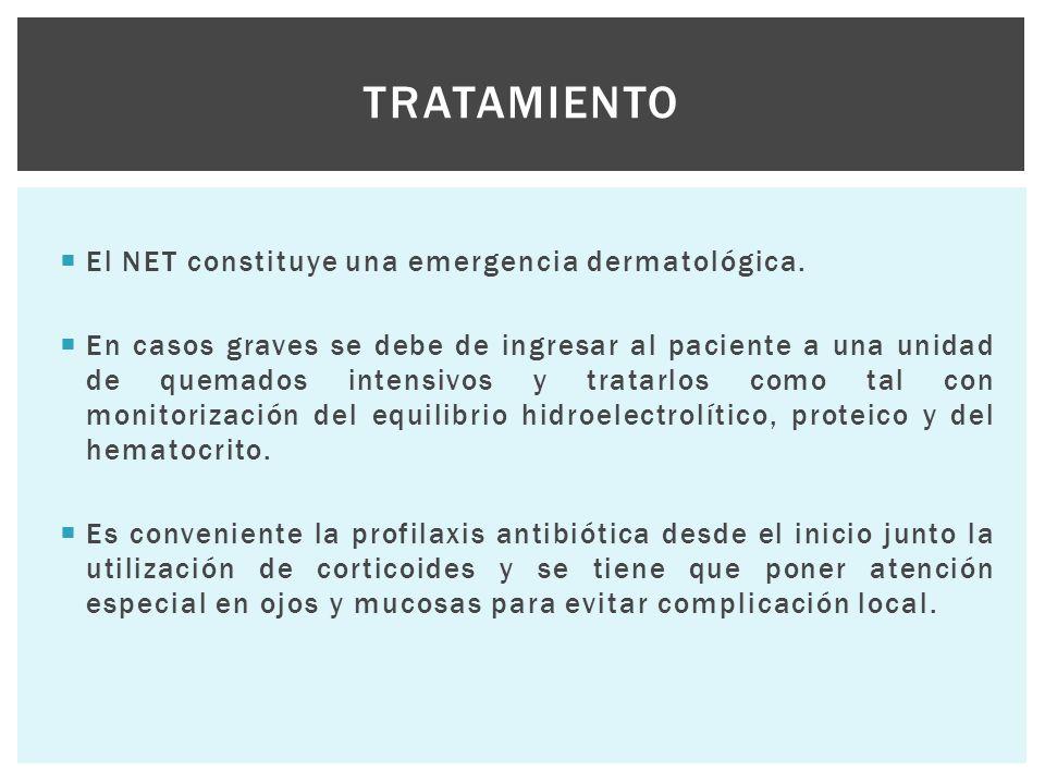 Tratamiento El NET constituye una emergencia dermatológica.