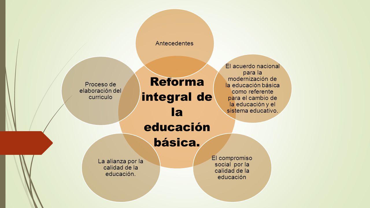 reforma integral de la educacion basica Planes de estudio que actualmente rigen a la educación básica en méxico   reforma integral de la educación básica (rieb) culmina un ciclo de reformas.