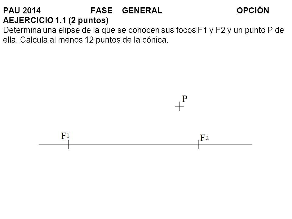 PAU 2014. FASE. GENERAL. OPCIÓN AEJERCICIO 1