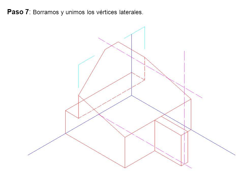 Paso 7: Borramos y unimos los vértices laterales.