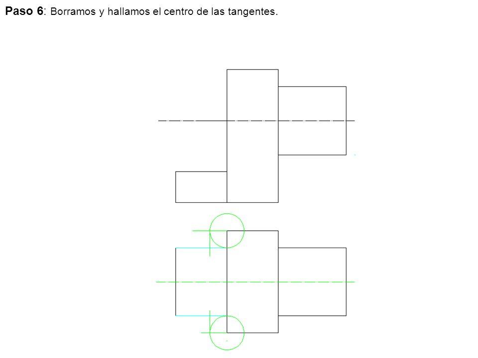 Paso 6: Borramos y hallamos el centro de las tangentes.