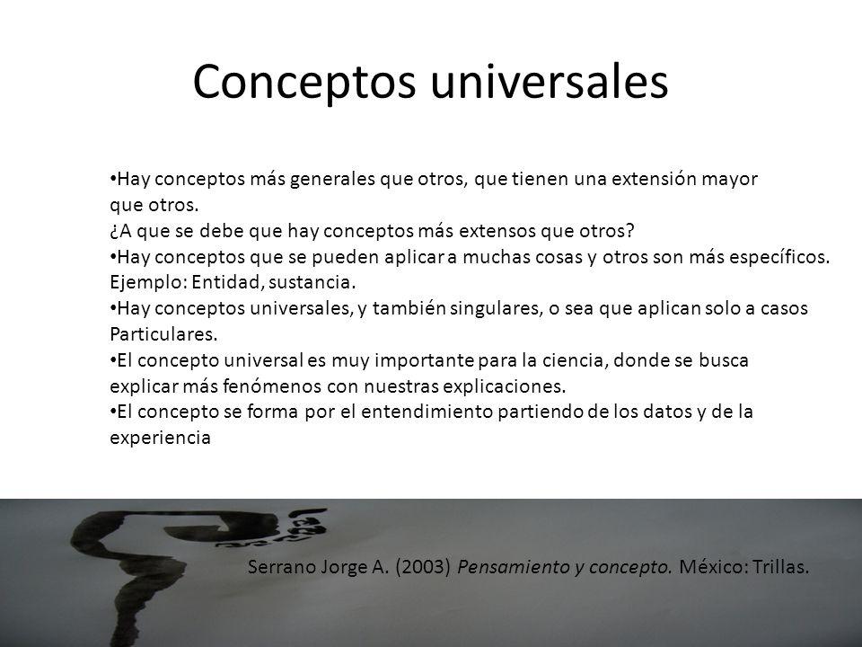 Conceptos universales