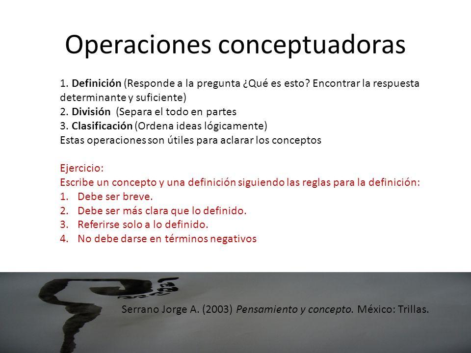 Operaciones conceptuadoras