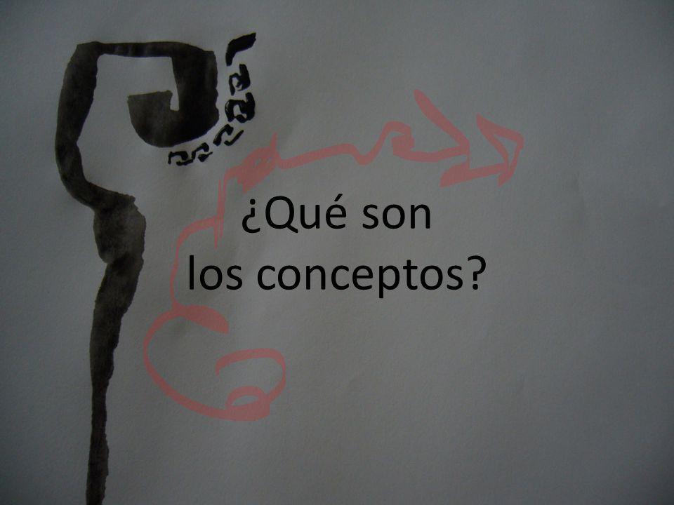 . ¿Qué son los conceptos