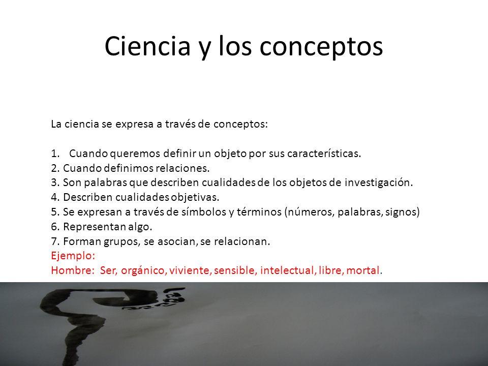 Ciencia y los conceptos