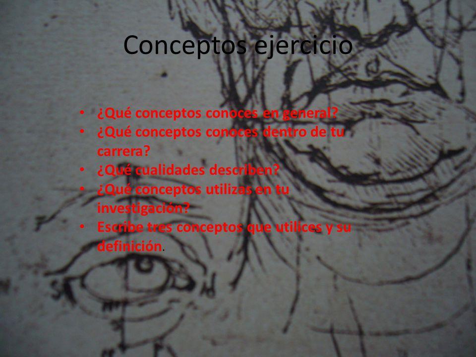 Conceptos ejercicio ¿Qué conceptos conoces en general