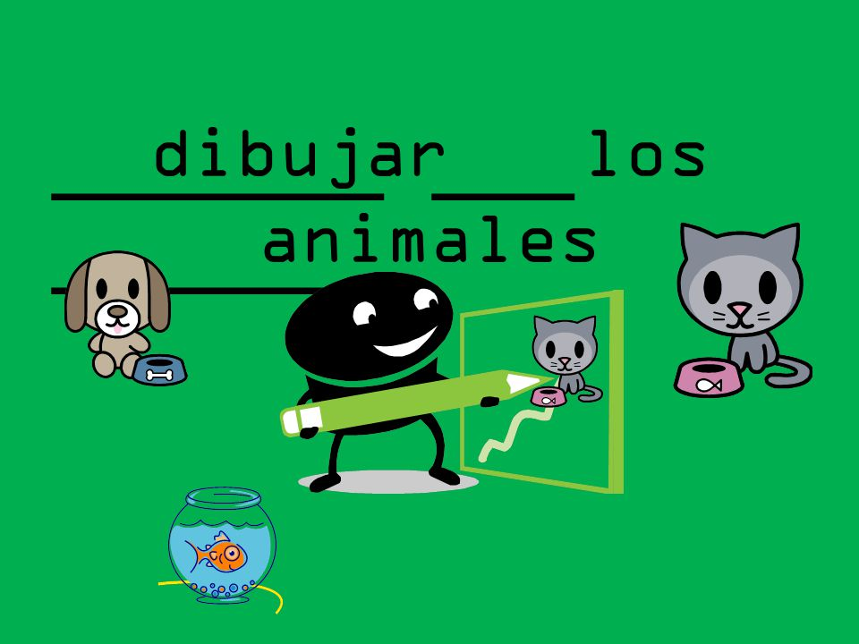 dibujar los animales _______ ___ _______