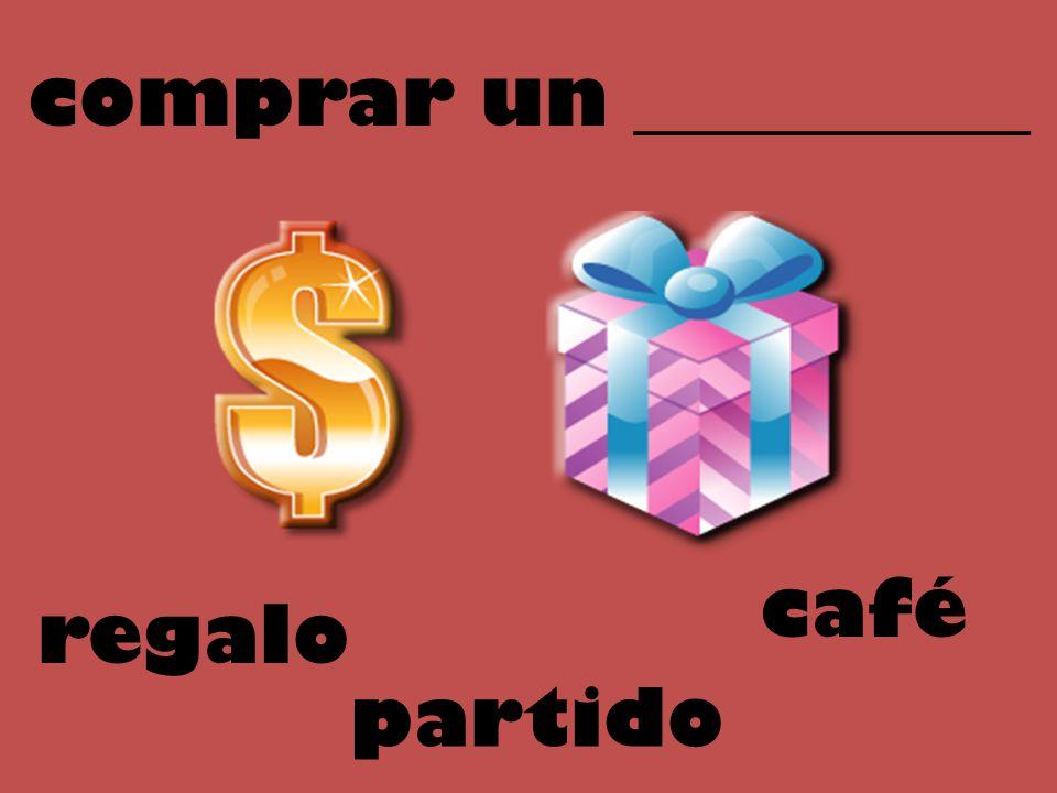 comprar un __________ café regalo partido