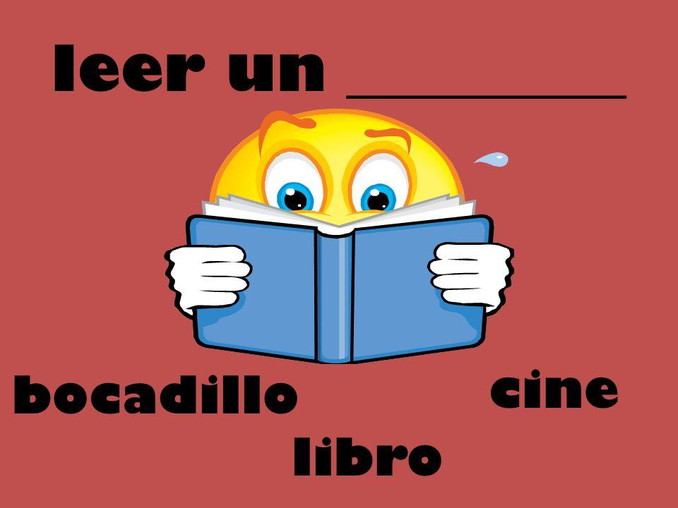 leer un _________ cine bocadillo libro