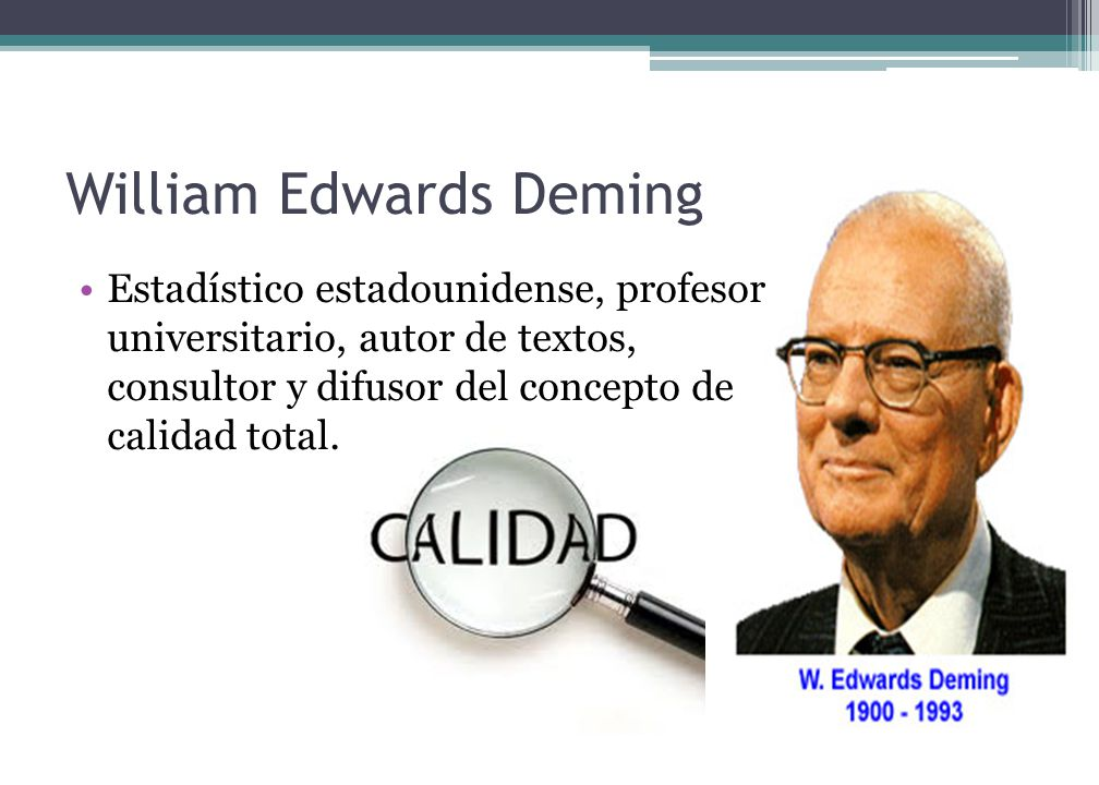 william edwards deming total quality William edwards deming: total quality management and the deming approach to quality management journal of management history (archive.