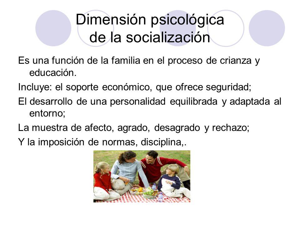 Dimensión psicológica de la socialización