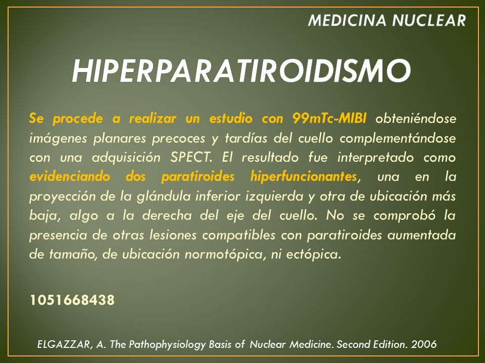 MEDICINA NUCLEAR HIPERPARATIROIDISMO - ppt video online