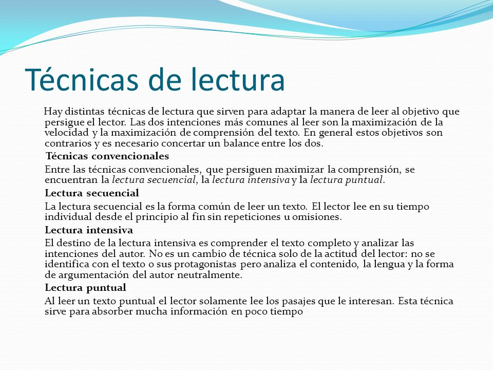 Lectura ppt descargar for Que son tecnicas de oficina