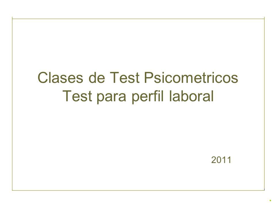 Clases de Test Psicometricos Test para perfil laboral