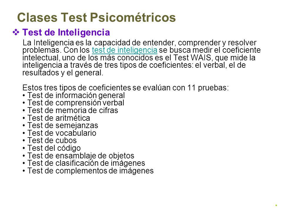 Clases Test Psicométricos