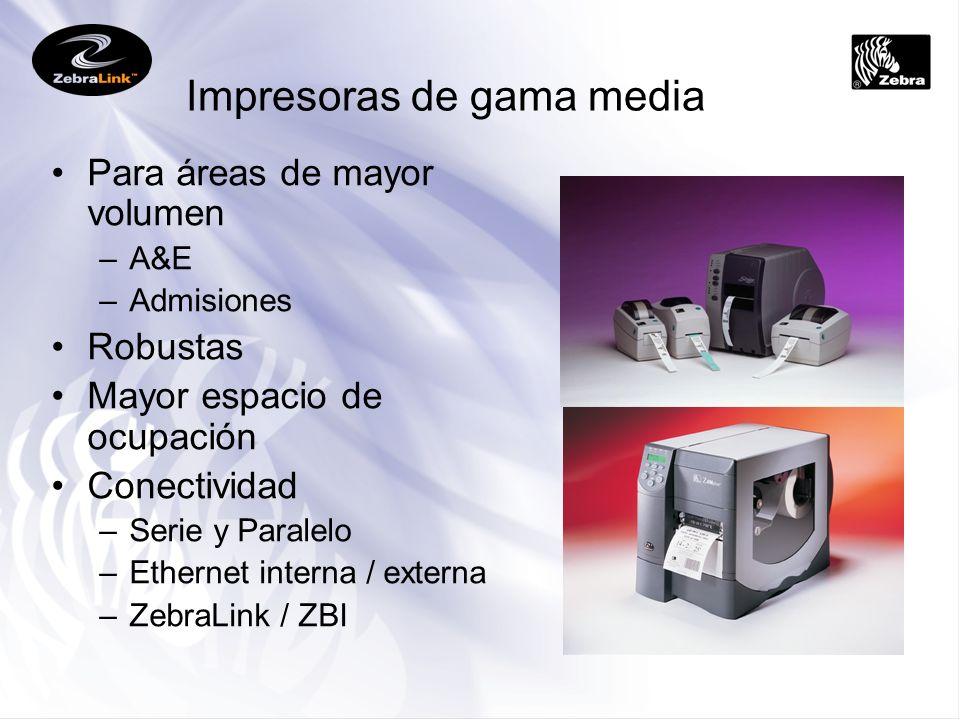 Impresoras de gama media