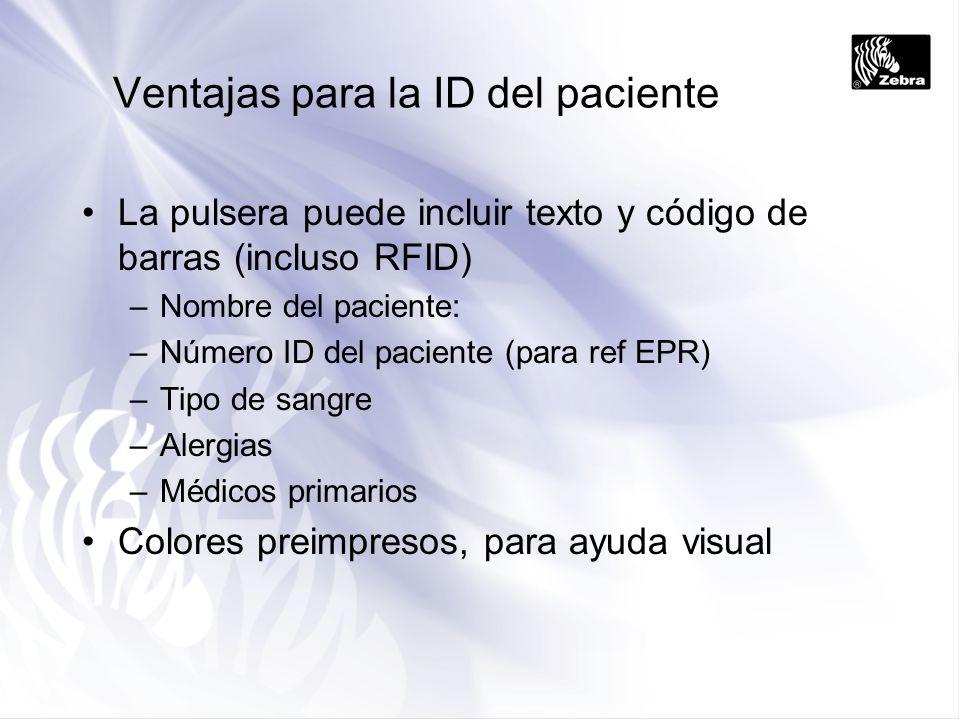 Ventajas para la ID del paciente