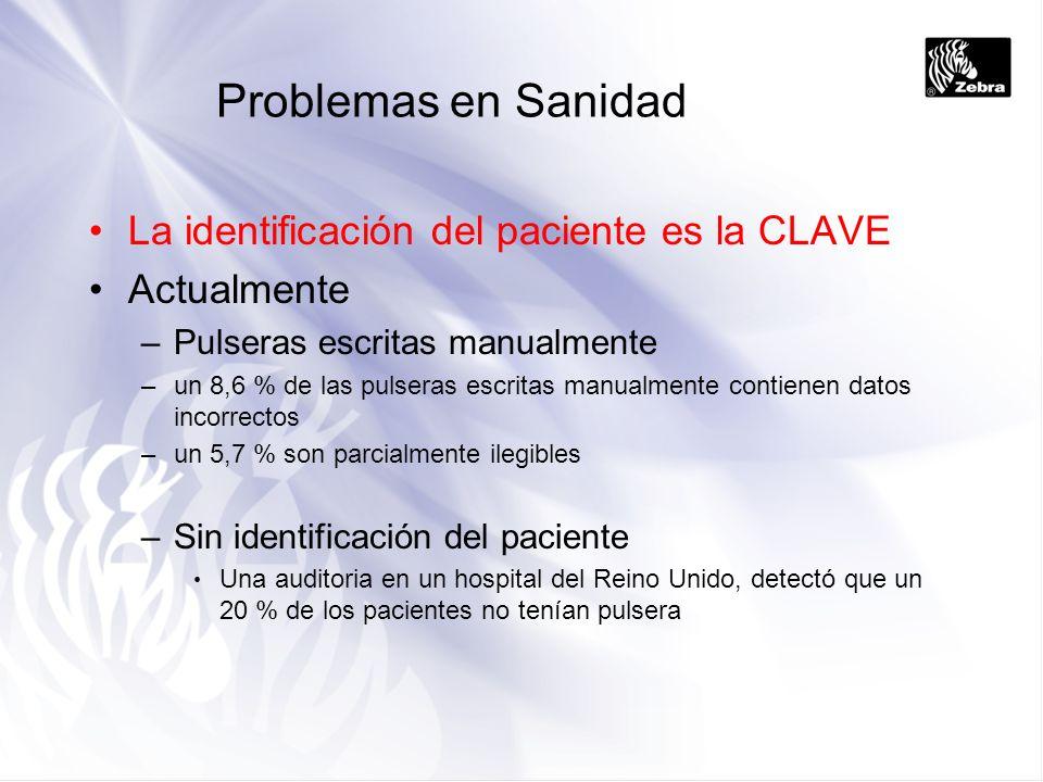 Problemas en Sanidad La identificación del paciente es la CLAVE
