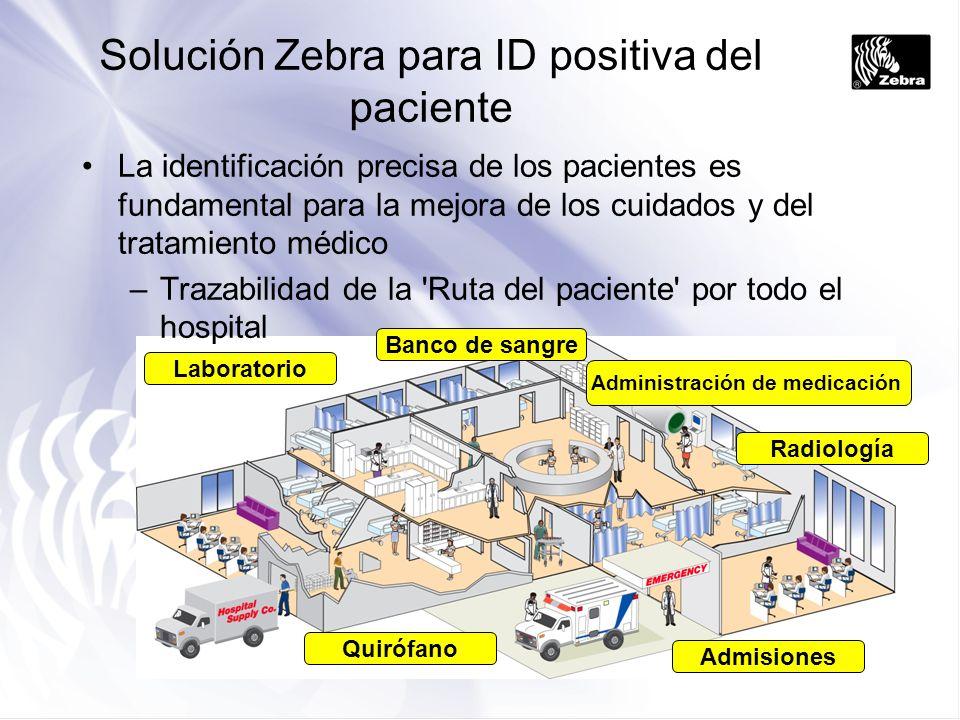 Solución Zebra para ID positiva del paciente
