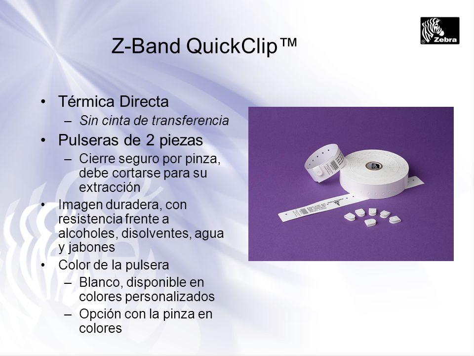 Z-Band QuickClip™ Térmica Directa Pulseras de 2 piezas