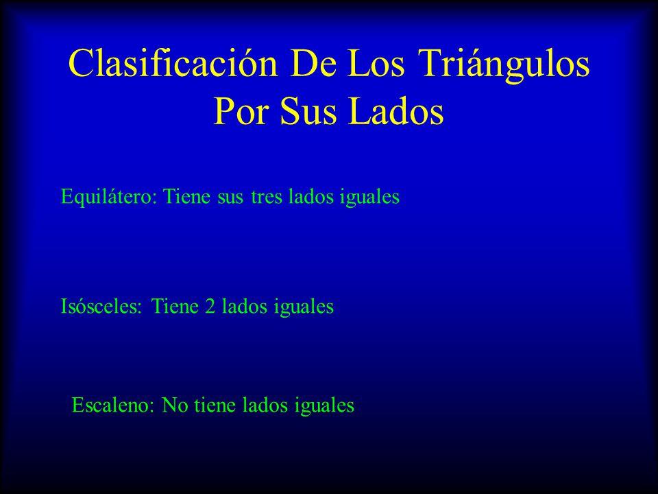 Clasificación De Los Triángulos Por Sus Lados