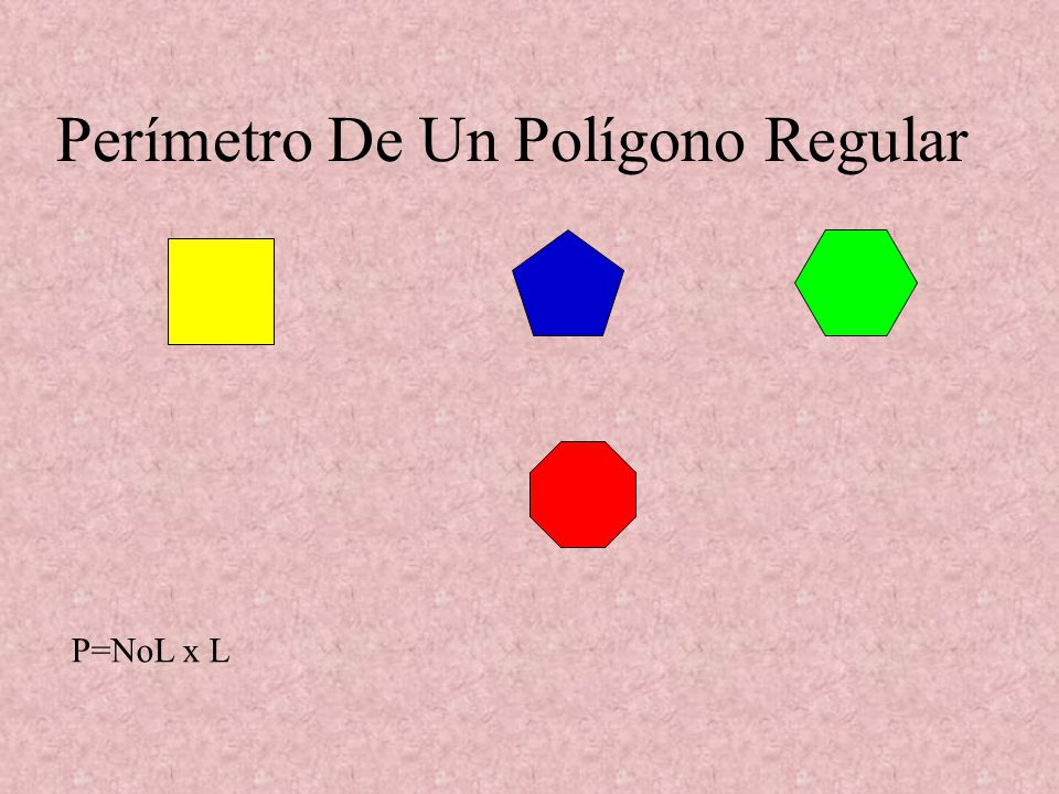 Perímetro De Un Polígono Regular
