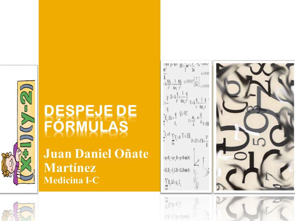 Juan Daniel Oñate Martínez Medicina I-C