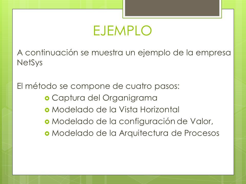 EJEMPLO A continuación se muestra un ejemplo de la empresa NetSys