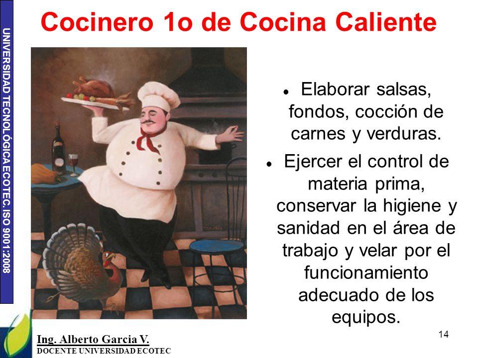 Cocinero 1o de Cocina Caliente