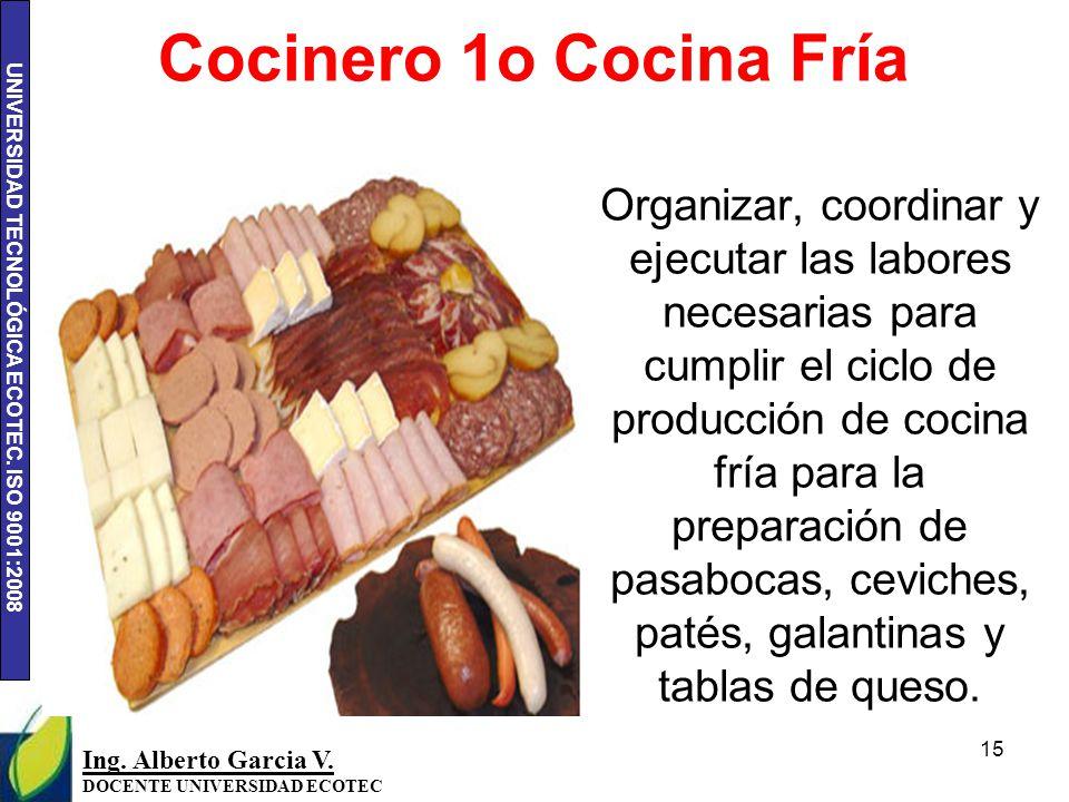 Cocinero 1o Cocina Fría