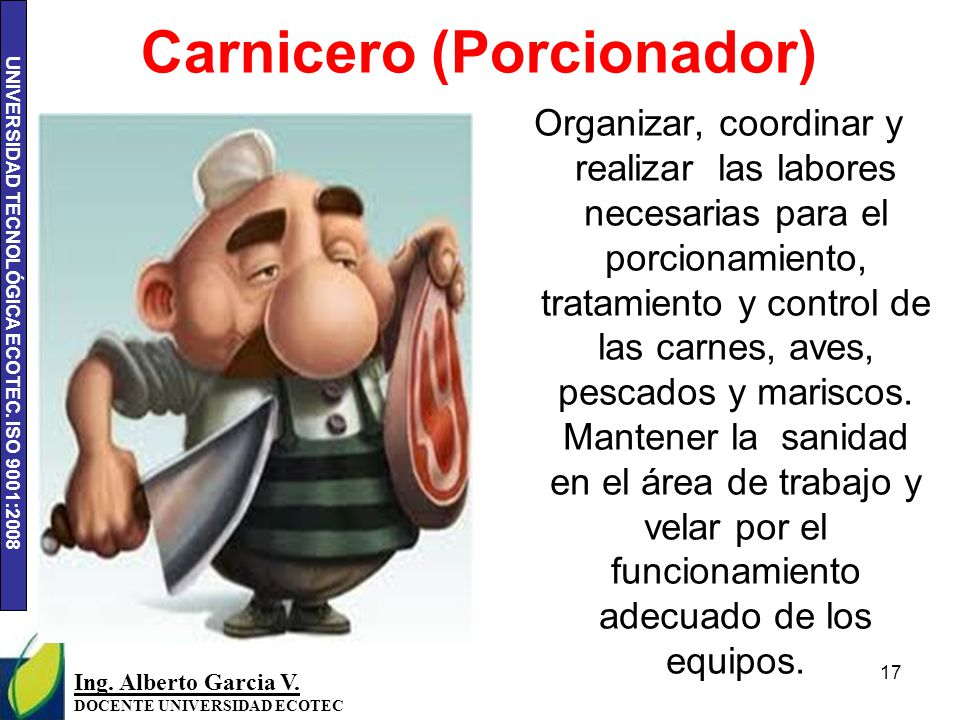 Carnicero (Porcionador)