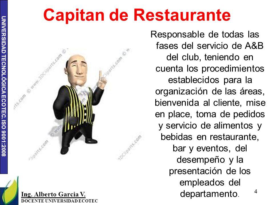 Capitan de Restaurante
