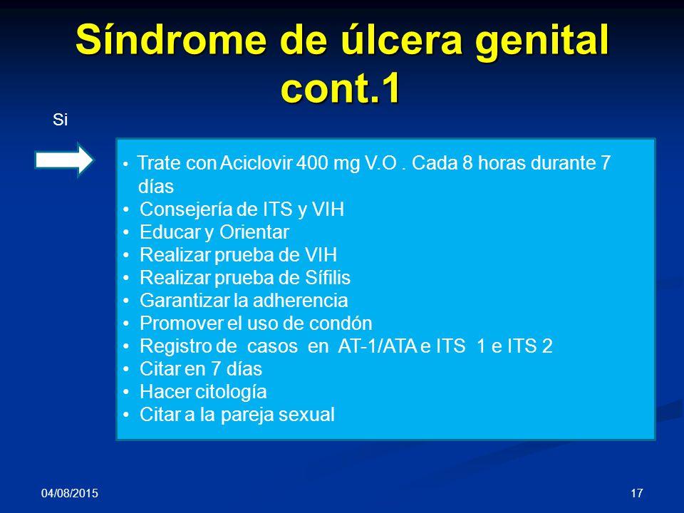 Síndrome de úlcera genital cont.1