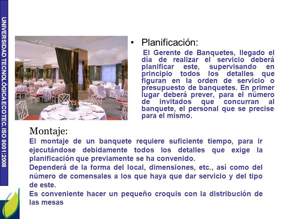 Planificación: Montaje: Salón Madrid Salón Madrid