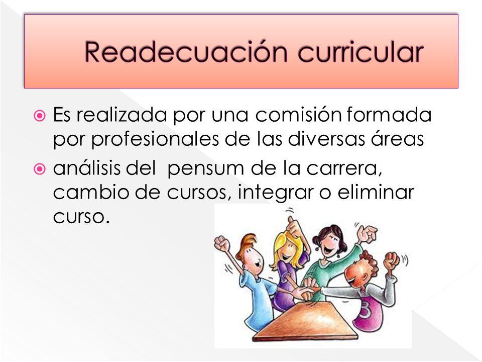 Readecuación curricular