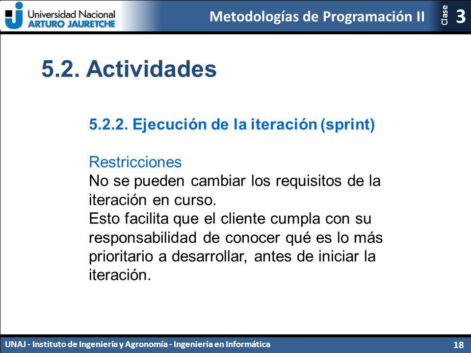 5.2. Actividades 5.2.2. Ejecución de la iteración (sprint)