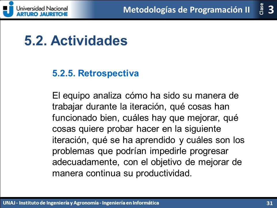 5.2. Actividades 5.2.5. Retrospectiva