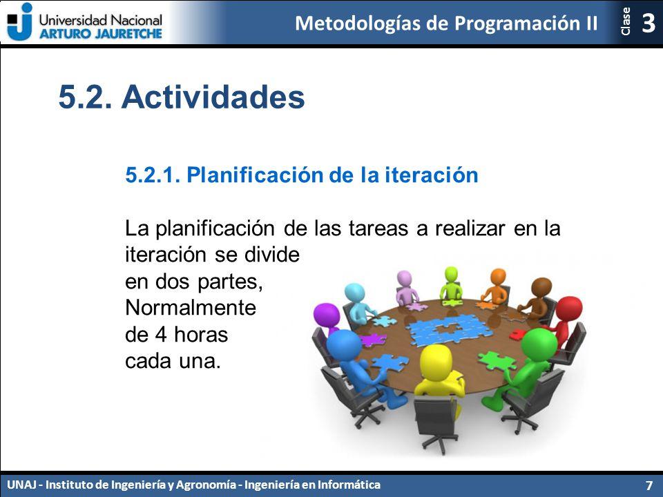 5.2. Actividades 5.2.1. Planificación de la iteración